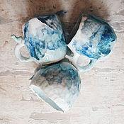 Посуда ручной работы. Ярмарка Мастеров - ручная работа кружки с птицами с акварельными разводами. Handmade.