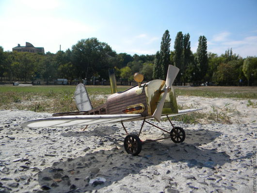Техника ручной работы. Ярмарка Мастеров - ручная работа. Купить Паровой самолет. Handmade. Коричневый, игрушка, латунь