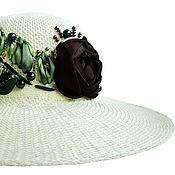 Аксессуары handmade. Livemaster - original item Hat ROSE IN CHOCOLATE. Handmade.