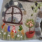 Для домашних животных, ручной работы. Ярмарка Мастеров - ручная работа Вилла для любимчика. Валяный дом из натуральной шерсти.. Handmade.