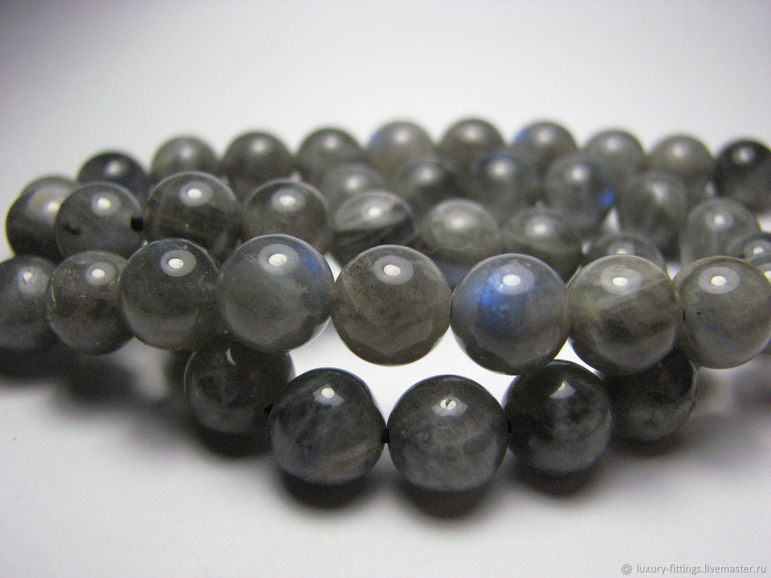 Labradorite beads 8mm, smooth ball, Beads1, Moscow,  Фото №1