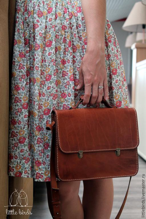 Женские сумки ручной работы. Ярмарка Мастеров - ручная работа. Купить Портфель кожаный ручной работы. Handmade. Кожаная сумка