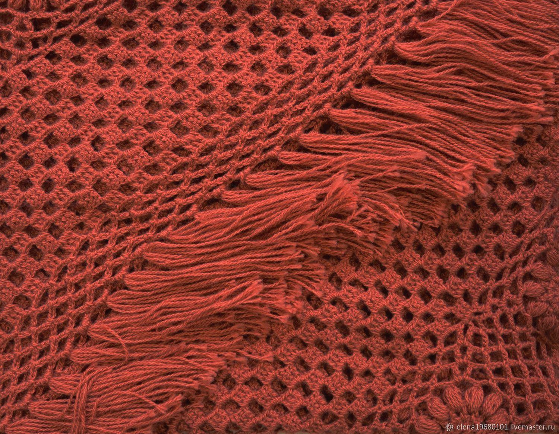 Crochet shawl AMRITA 220*120 cm Triangular with tassels #014, Shawls, Nalchik,  Фото №1