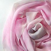Аксессуары ручной работы. Ярмарка Мастеров - ручная работа Шарф Пепельная роза шелковый розовый. Handmade.