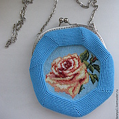 Сумки и аксессуары ручной работы. Ярмарка Мастеров - ручная работа Бисерная сумочка с вышивкой. Handmade.