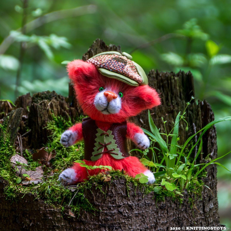 Toy crochet kitten orange mood, Stuffed Toys, Moscow,  Фото №1