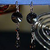Украшения handmade. Livemaster - original item Yodirovannoye earrings with Swarovski crystals Giselle. Handmade.