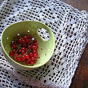 Посуда ручной работы. Ярмарка Мастеров - ручная работа Berry Bowl Салатовая. Handmade.