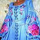 Order Dress embroidered 'Roses' Boho. Individual vyshivanka. (oksanetta). Livemaster. . Dresses Фото №3