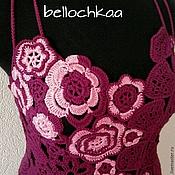 """Одежда ручной работы. Ярмарка Мастеров - ручная работа Вязаное коктейльное платье """"Бургундское вино"""".. Handmade."""