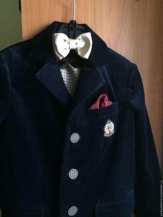 Одежда для мальчиков, ручной работы. Ярмарка Мастеров - ручная работа. Купить костюм для мальчика МК 1035. Handmade. Тёмно-синий