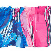 """Одежда ручной работы. Ярмарка Мастеров - ручная работа Парео принт """"Вихрь цвета"""". Handmade."""