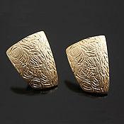 Материалы для творчества handmade. Livemaster - original item earrings studs matte gold-plated yu. korea (art. 2742). Handmade.