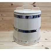 Посуда handmade. Livemaster - original item The wooden tub made of cedar 25 litres stainless steel. Handmade.