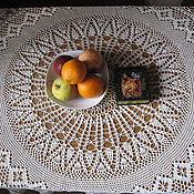 Для дома и интерьера ручной работы. Ярмарка Мастеров - ручная работа Вязаная круглая скатерть. Handmade.