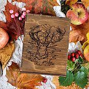 Упаковка ручной работы. Ярмарка Мастеров - ручная работа Коробочка деревянная с гравировкой. Handmade.