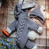 Одежда детская handmade. Livemaster - original item Knitted Bunny Romper. Bunny jumpsuit.. Handmade.