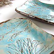 """Посуда ручной работы. Ярмарка Мастеров - ручная работа Пара тарелок """"Небо сквозь ветки"""". Handmade."""