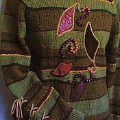 """Одежда ручной работы. Ярмарка Мастеров - ручная работа Джемпер """"Лесные тропинки"""". Handmade."""