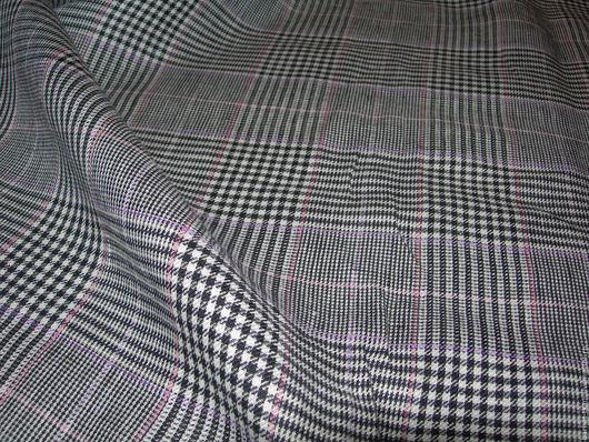 Шитье ручной работы. Ярмарка Мастеров - ручная работа. Купить Лен костюмный. Итальянские ткани. Handmade. Комбинированный, итальянский лен