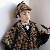 Куклы и игрушки ручной работы. Ярмарка Мастеров - ручная работа Кукла Шерлок Холмс. Handmade.