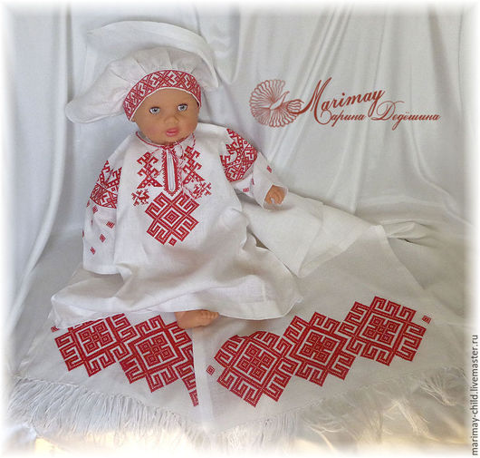 Одежда для девочек, ручной работы. Ярмарка Мастеров - ручная работа. Купить Комплект с вышивкой славянских символов. Handmade. Для девочки