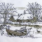 Картины и панно ручной работы. Ярмарка Мастеров - ручная работа зимний пруд. Handmade.