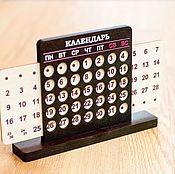 Канцелярские товары handmade. Livemaster - original item Wooden Perpetual calendar - tabletop. Handmade.