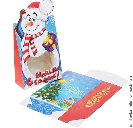 """Упаковка ручной работы. Ярмарка Мастеров - ручная работа. Купить Коробка сборная фигурная """"Снеговик"""". Handmade. Разноцветный, упаковка для мыла"""