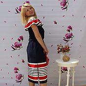 Одежда ручной работы. Ярмарка Мастеров - ручная работа Платье в полоску трикотаж. Handmade.