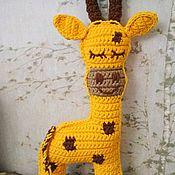 Мягкие игрушки ручной работы. Ярмарка Мастеров - ручная работа Жираф, вязанный из трикотажной пряжи. Handmade.