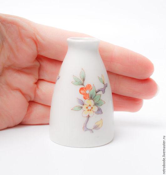 Винтажные предметы интерьера. Ярмарка Мастеров - ручная работа. Купить Фарфоровая миниатюрная вазочка, ваза, деколь, фарфор винтаж Weiss. Handmade.