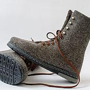 """Обувь ручной работы. Ярмарка Мастеров - ручная работа Ботинки валяные мужские  """"Steel man"""". Handmade."""