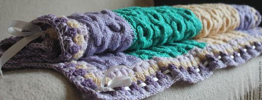 Пледы и одеяла ручной работы. Ярмарка Мастеров - ручная работа. Купить Плед детский объемный. Handmade. Комбинированный, детский акрил