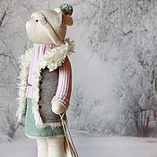 """Куклы и игрушки ручной работы. Ярмарка Мастеров - ручная работа Кошка """"Белым, белым кроет снегом..."""". Handmade."""