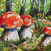 Картины и панно handmade. Livemaster - original item Aspen in the forest oil painting. Handmade.
