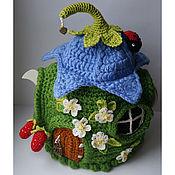 """Домики ручной работы. Ярмарка Мастеров - ручная работа Грелка на чайник """"Цветочная"""". Handmade."""