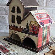 """Для дома и интерьера ручной работы. Ярмарка Мастеров - ручная работа Чайный домик """"Лондон"""". Handmade."""