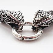 """Комплект колпачков """"Змеи"""", 10 мм внутренний диаметр, цвет античное сер"""