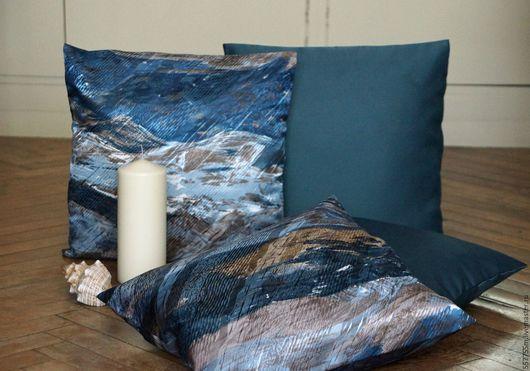 """Текстиль, ковры ручной работы. Ярмарка Мастеров - ручная работа. Купить Пять декоративных подушек """"Морская волна"""", комплект - 5 подушек.. Handmade."""