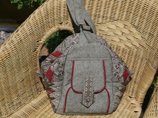 Рюкзаки ручной работы. Ярмарка Мастеров - ручная работа. Купить сумка-рюкзак. Handmade. Разноцветный, рюкзачок, сумка женская