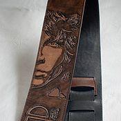 """Инструменты ручной работы. Ярмарка Мастеров - ручная работа Ремень для гитары """"Jim morrison"""". Handmade."""