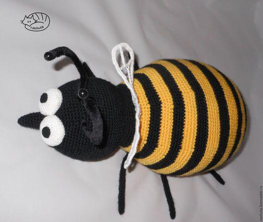 Текстиль, ковры ручной работы. Ярмарка Мастеров - ручная работа. Купить ПчелоДушка. Handmade. Разноцветный, пчелка, мед, проволока шенил