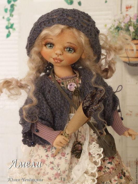 Коллекционные куклы ручной работы. Ярмарка Мастеров - ручная работа. Купить Амели. Handmade. Сиреневый, авторская кукла, шерсть