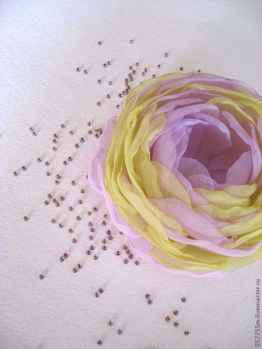 """Броши ручной работы. Ярмарка Мастеров - ручная работа. Купить Брошь """"Краски весны"""". Handmade. Сиреневый цвет, брошь цветок"""