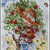 """Для дома и интерьера ручной работы. Ярмарка Мастеров - ручная работа Лоскутное одеяло """"Любители яблок"""". Handmade."""