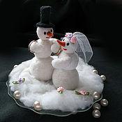 Свадебный салон ручной работы. Ярмарка Мастеров - ручная работа тарелочка для колец Снежная свадьба. Handmade.