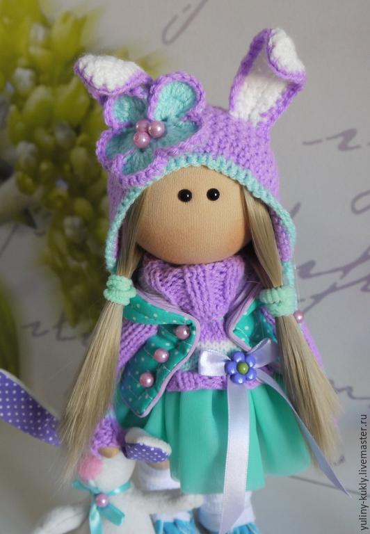 Текстильная куколка малышка Заёна, Коллекционные куклы, Санкт-Петербург, Фото №1