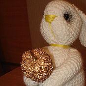 Куклы и игрушки ручной работы. Ярмарка Мастеров - ручная работа Зайка с яблоком. Handmade.