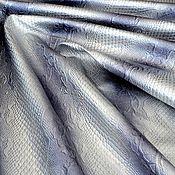 Материалы для творчества handmade. Livemaster - original item Genuine leather Silver Python hologram 0,9 mm. Handmade.